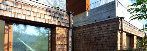 Dettaglio terrazzo e giardino attico